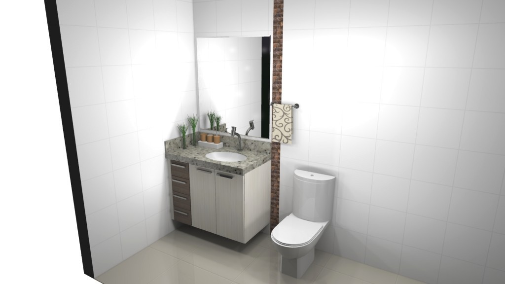 Banheiro planejado 120