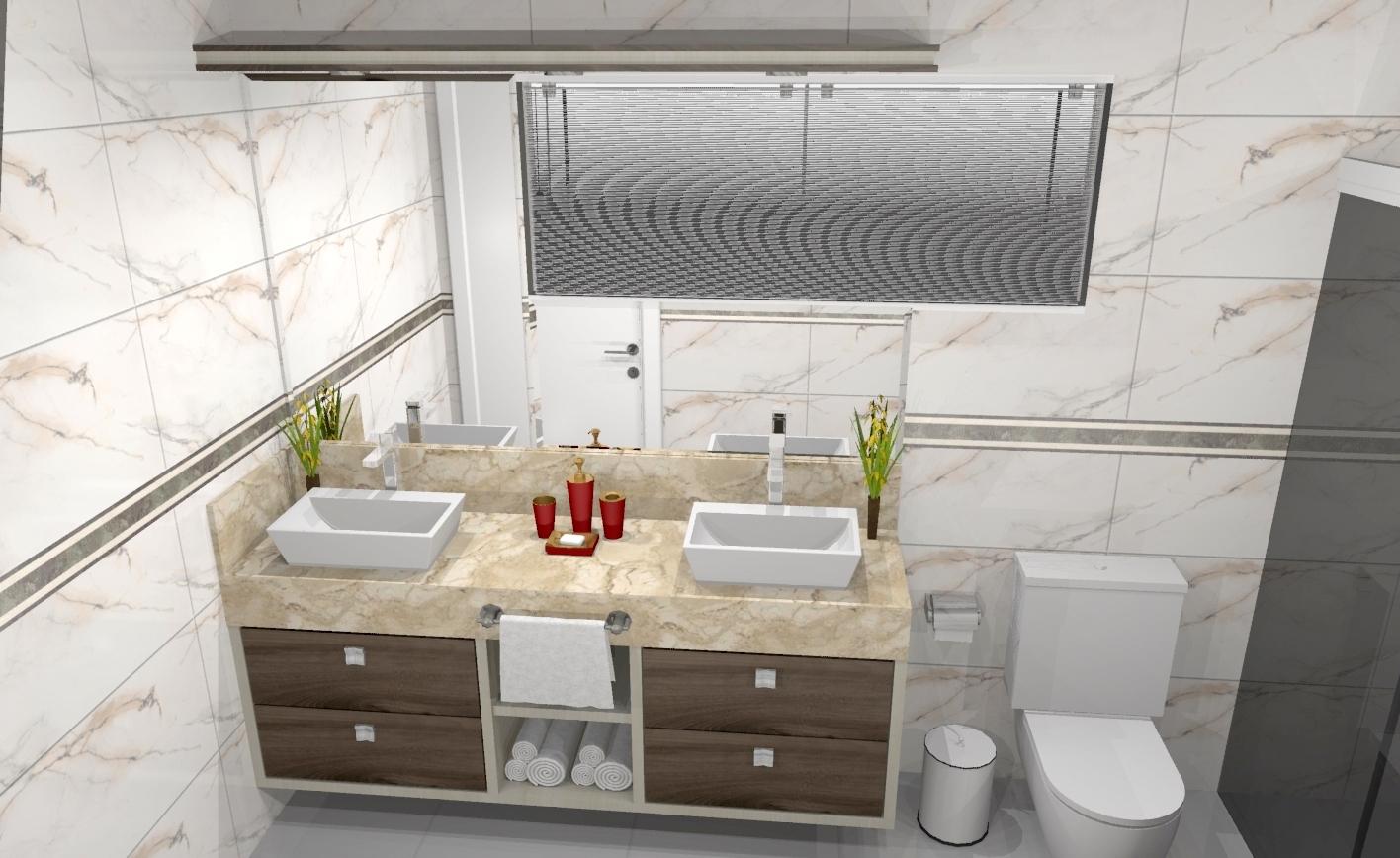Banheiros » Apreciare móveis planejados #90773B 1416x868 Banheiro Com Banheira Planejado