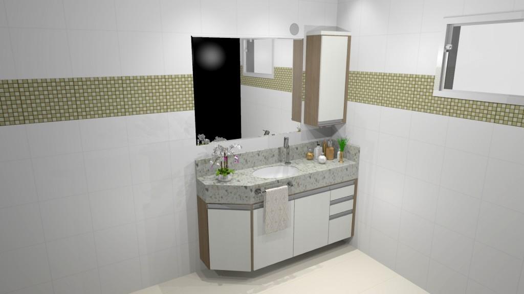 Banheiro planejado 210
