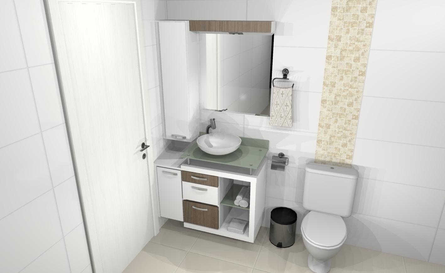Banheiros » Apreciare móveis planejados #5C5143 1416 868