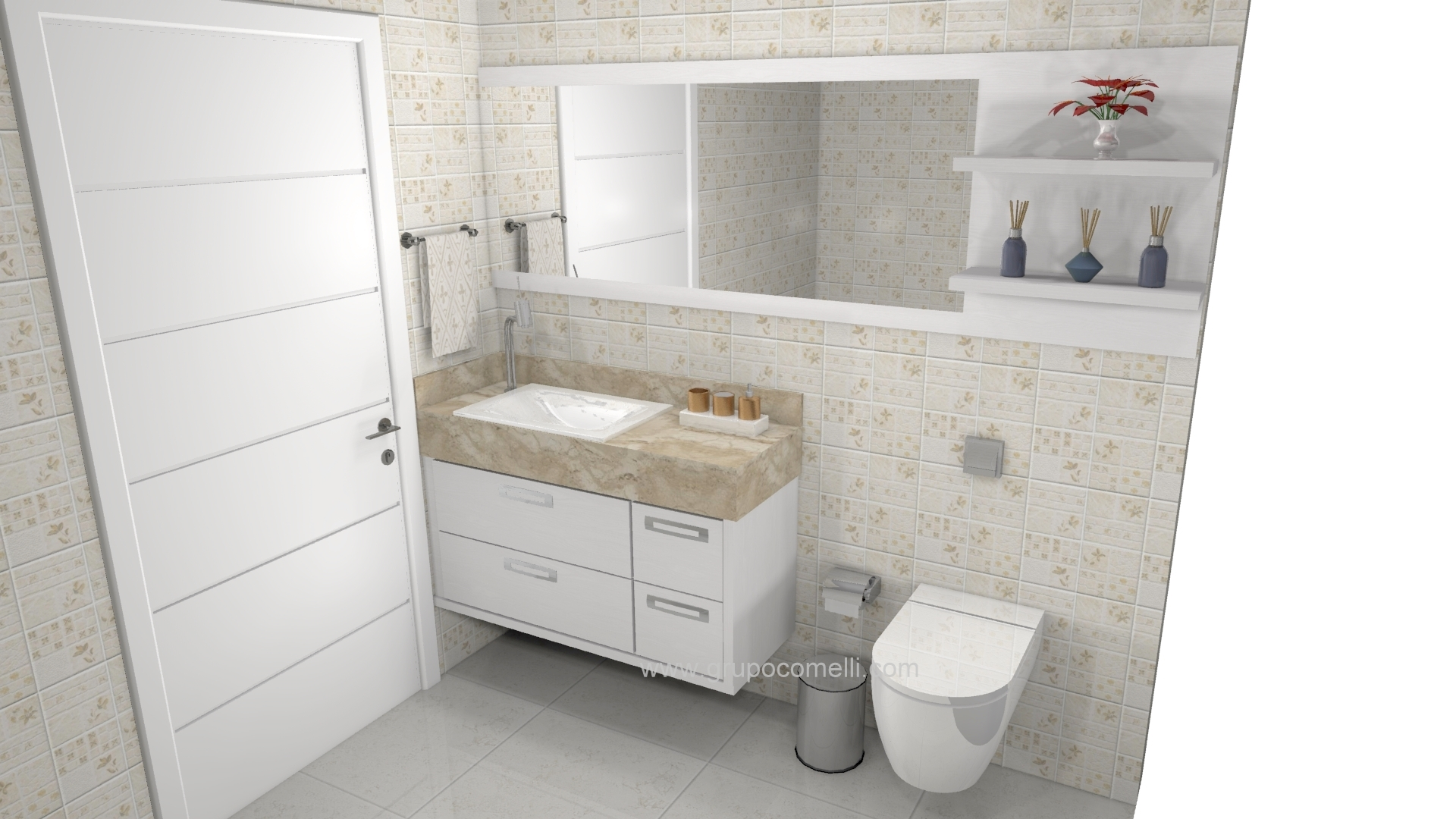 Banheiro planejado 256
