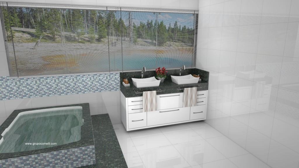 Banheiro planejado 283