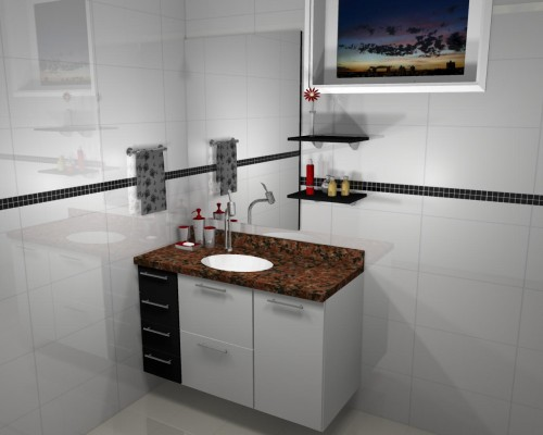 Banheiro planejado 50
