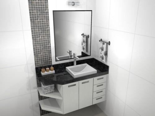 Banheiro planejado 75