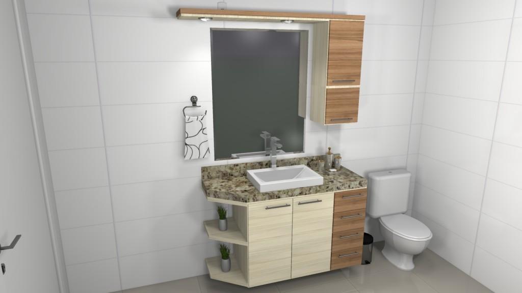 Banheiro planejado 80