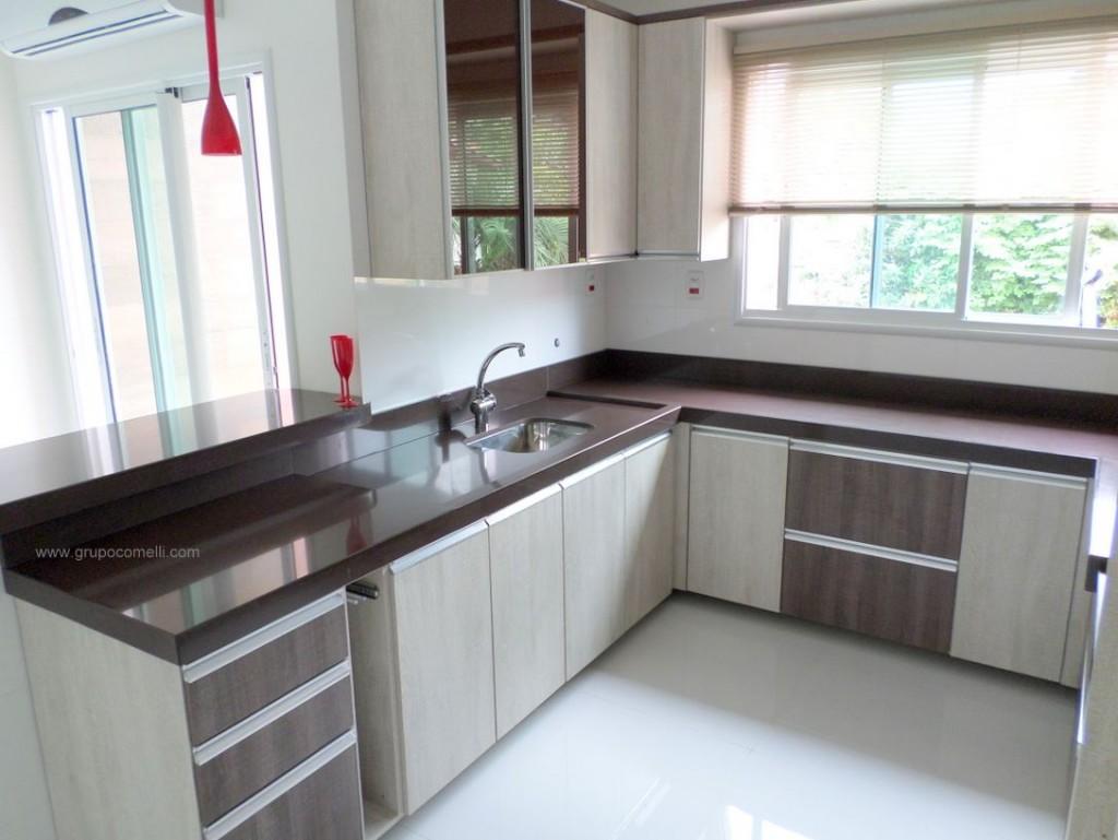 projeto 172 cozinha planejada categorias cozinhas planejadas projetos  #624A49 1024 769