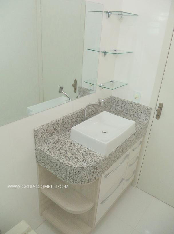 277 - Banheiro granito Branco Paris