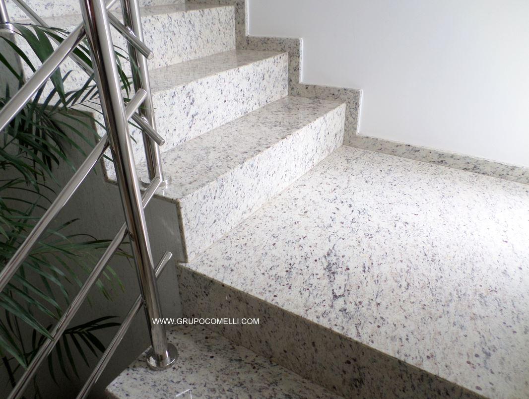 303 - Escada granito Branco Marfim (2)