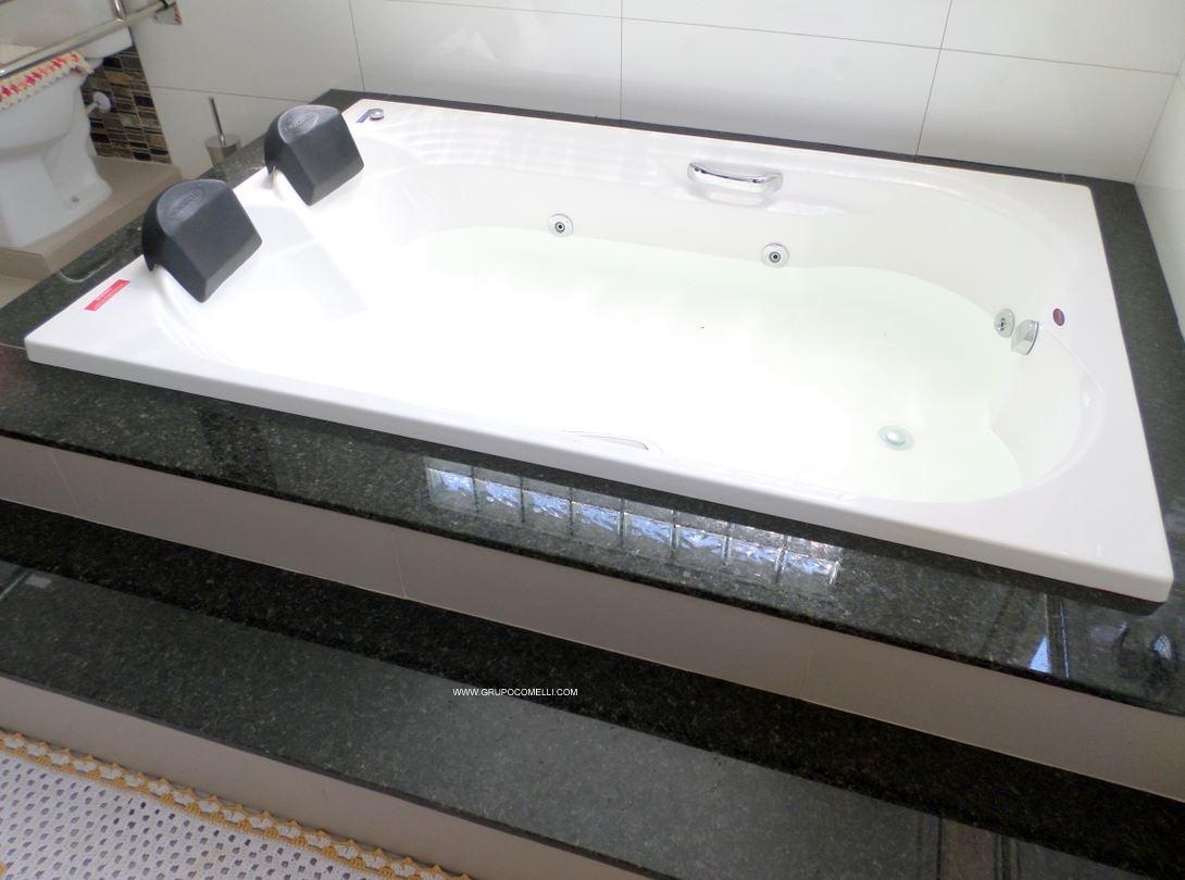 Trabalhos concluídos 02 » Triunfo mármores e granitos #665B4F 1090x810 Banheiro Banheira Hidro