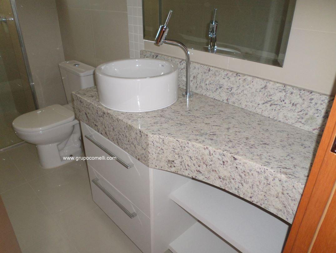 Trabalhos concluídos 02 » Triunfo mármores e granitos #A1572A 1076x810 Banheiro Bege Com Cuba Branca