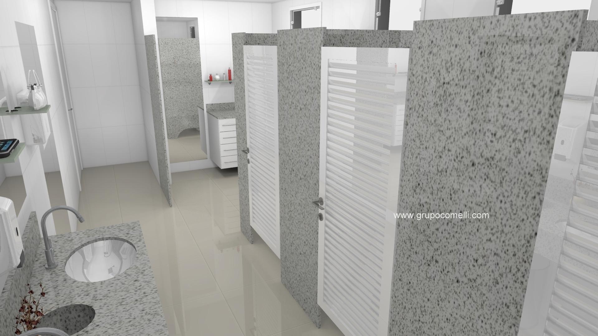 Banheiro planejado 292 – Granito Branco Paris » Triunfo mármores  #664C47 1920x1080 Balcão Banheiro Astra